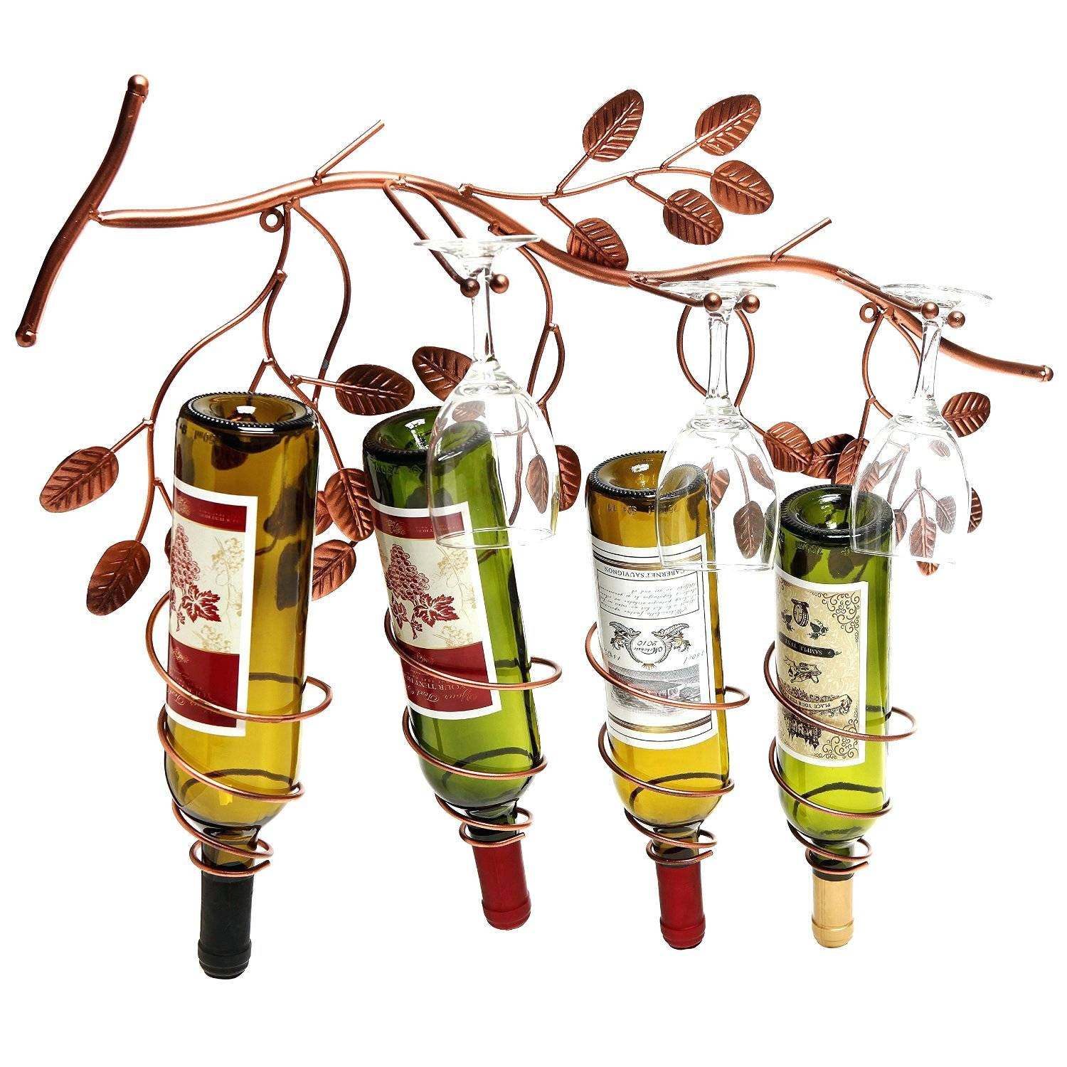 Wall Arts ~ Metal Wall Art Wine Bottle Holder Contemporary Wine For Recent Wine Bottle Metal Wall Art (View 13 of 20)