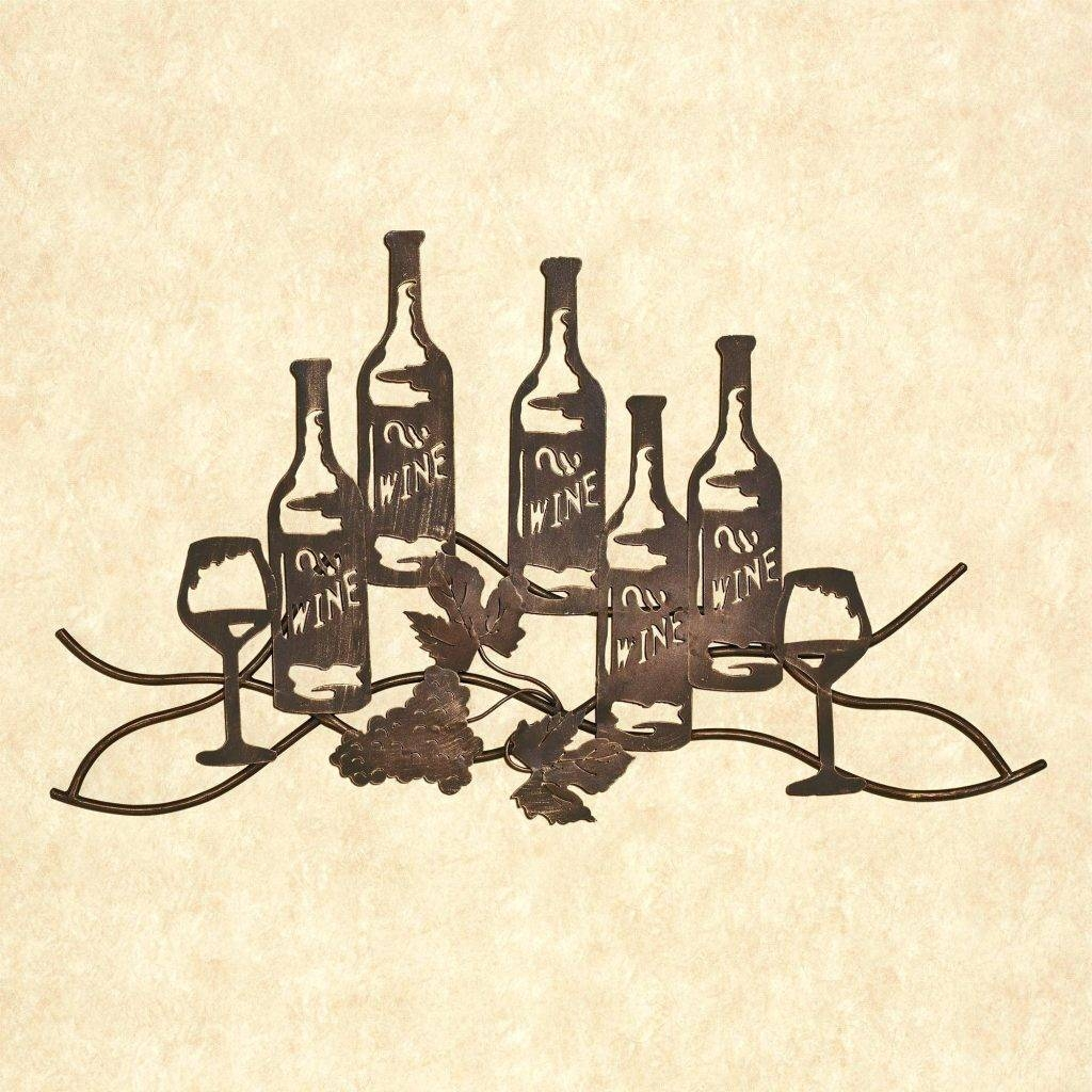 Wall Arts ~ Metal Wall Art Wine Metal Wall Art Wine Bottle Holder In Most Recent Wine Bottle Metal Wall Art (View 14 of 20)