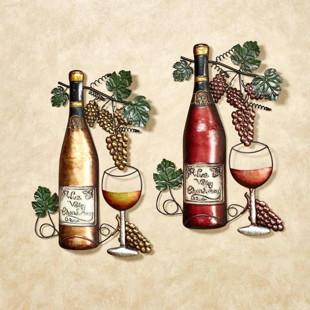 Wall Arts ~ Metal Wall Art Wine Theme Uk Metal Fish Bones Wine Throughout Most Recently Released Wine Bottle Metal Wall Art (View 15 of 20)