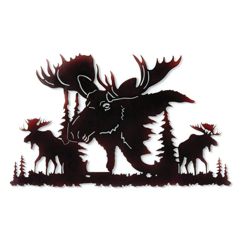 Wall Arts ~ Metal Wildlife Wall Art Moose Metal Wall Art Metal In Newest Wildlife Metal Wall Art (View 15 of 20)