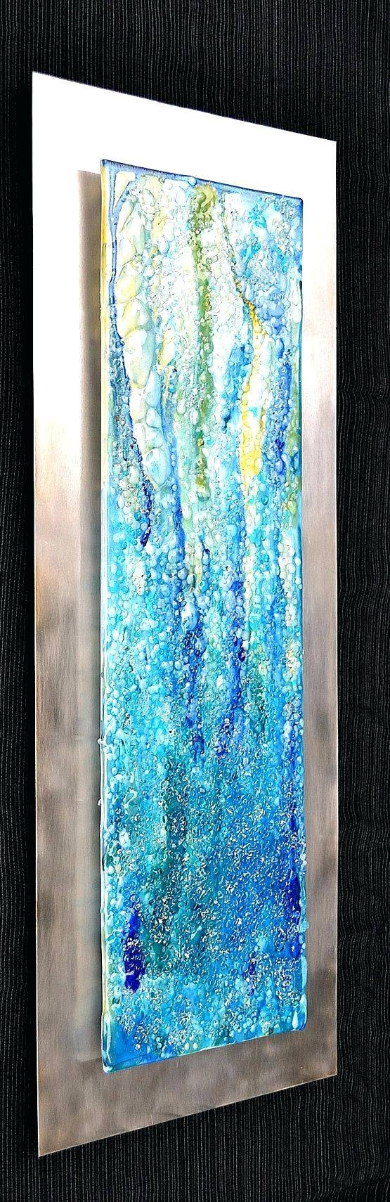 Wall Arts ~ Metal Wine Glass Wall Art Stained Glass Metal Wall Art Pertaining To Most Recent Glass And Metal Wall Art (View 18 of 20)