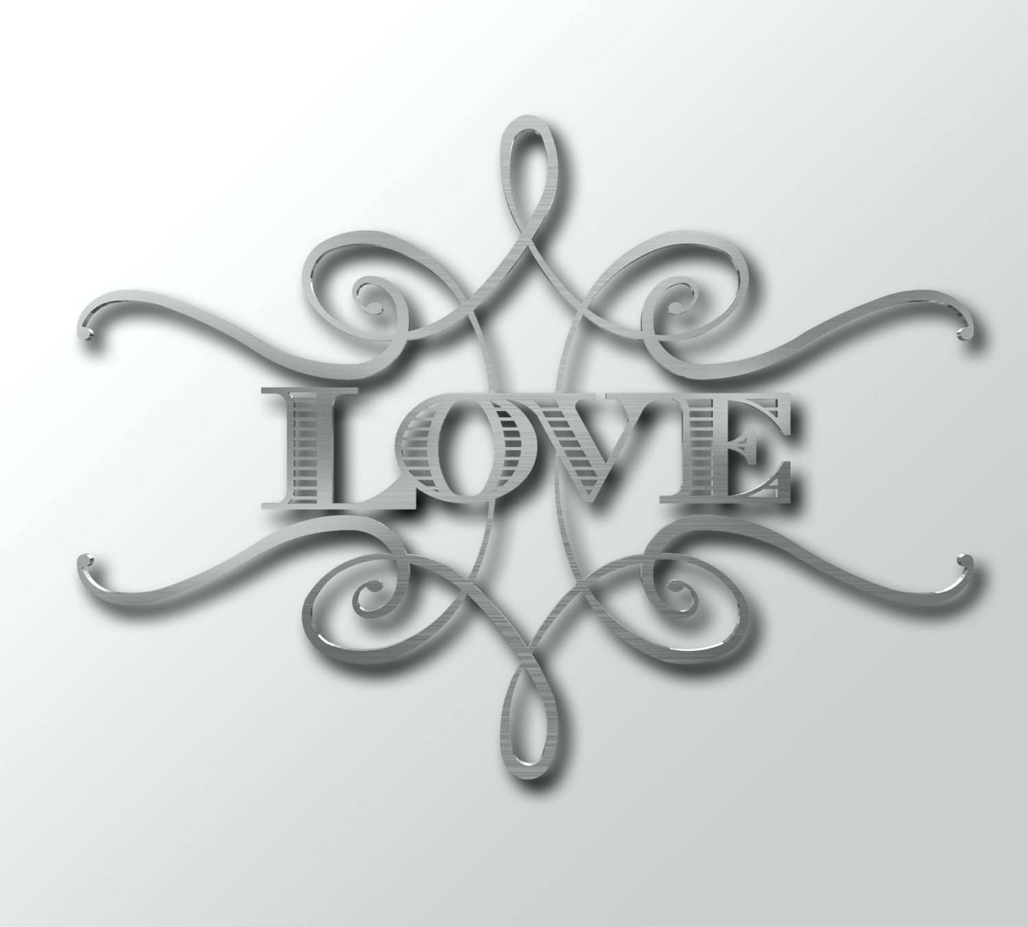 Wall Arts ~ Metal Word Wall Art Family Word Home Decor Metal Wall In Latest Black Metal Wall Art (View 19 of 20)