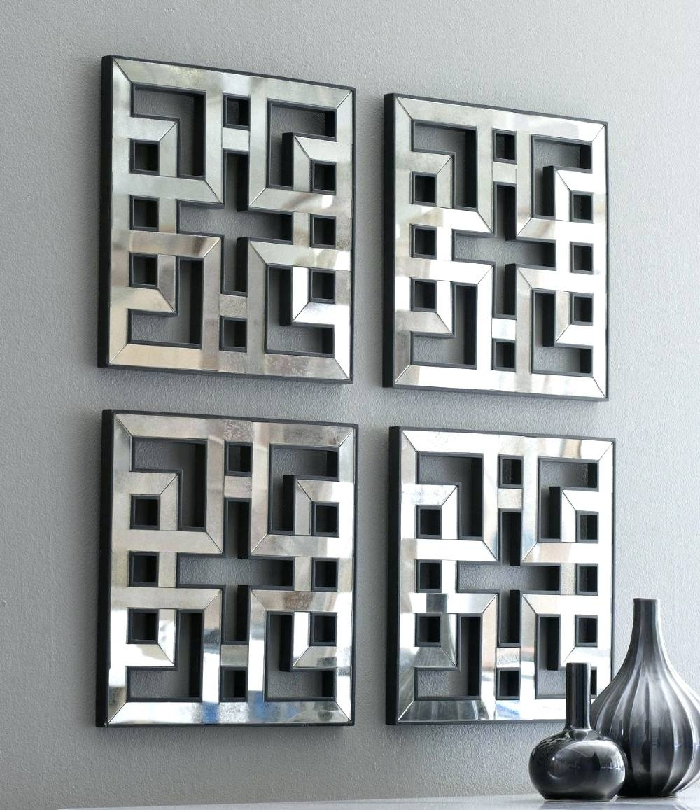 Wall Arts ~ Mirror Wall Art Decor Black Framed Wall Pictures Black For Most Popular Framed Metal Wall Art (View 20 of 20)