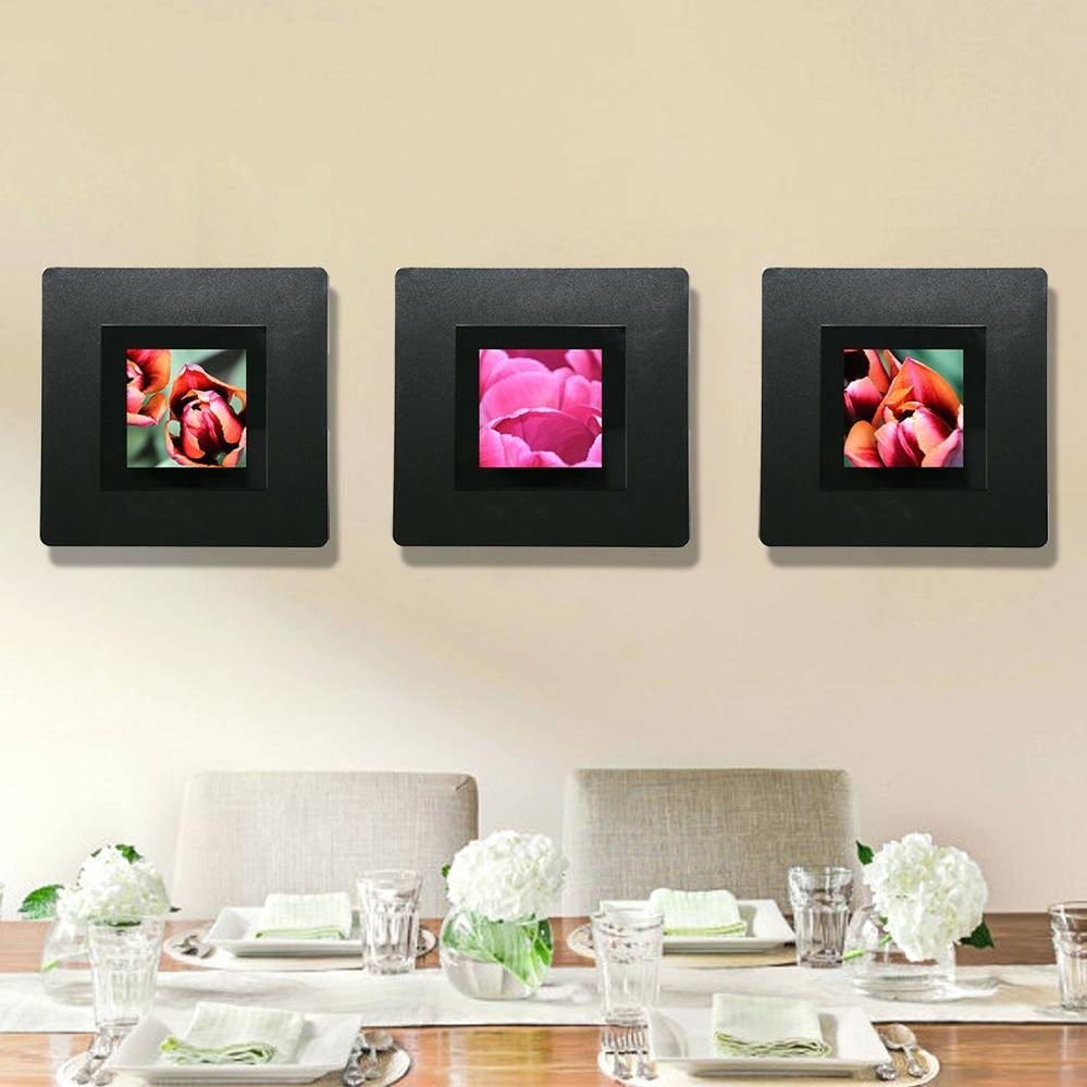Wall Arts ~ Modern Floral Wall Decor Pink Orange Abstract Metal For Best And Newest Pink Metal Wall Art (View 6 of 20)