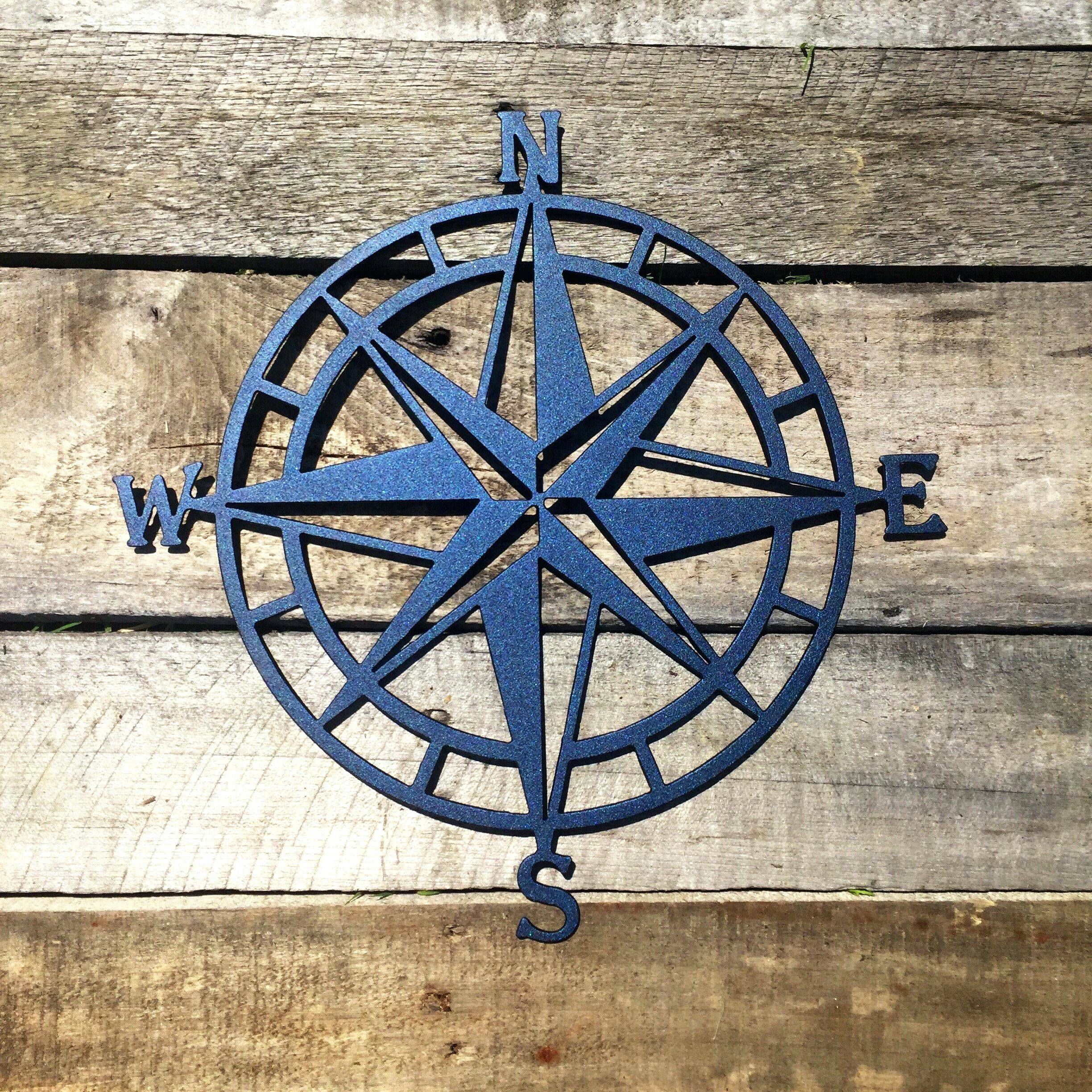 Wall Arts ~ Nautical Compass Rose Wall Art Compass Rose Wall Art Within Most Popular Nautical Metal Wall Art (View 19 of 20)