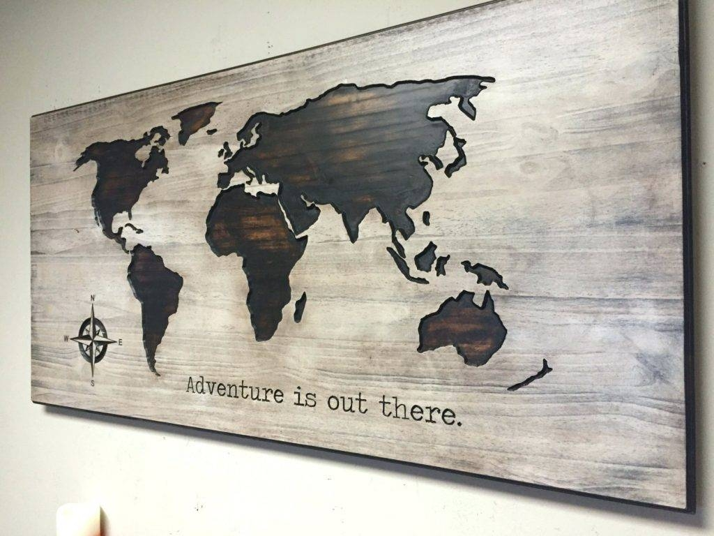 Wall Arts ~ Nursery Decor Idea Wood Wall Art World Map Wooden With Regard To Most Current Wood Map Wall Art (View 12 of 20)