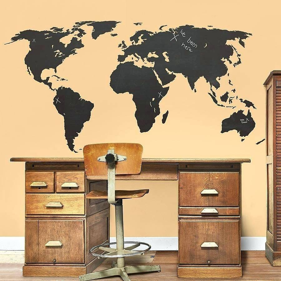 Wall Arts ~ Nursery Decor Idea Wood Wall Art World Map Wooden With Regard To Most Popular Africa Map Wall Art (View 10 of 20)