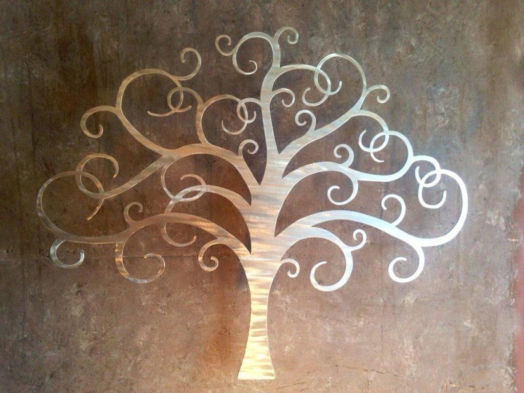 Wall Arts ~ Oak Tree Large Metal Wall Art Stupendous Large Metal Inside Most Popular Giant Metal Wall Art (View 4 of 20)