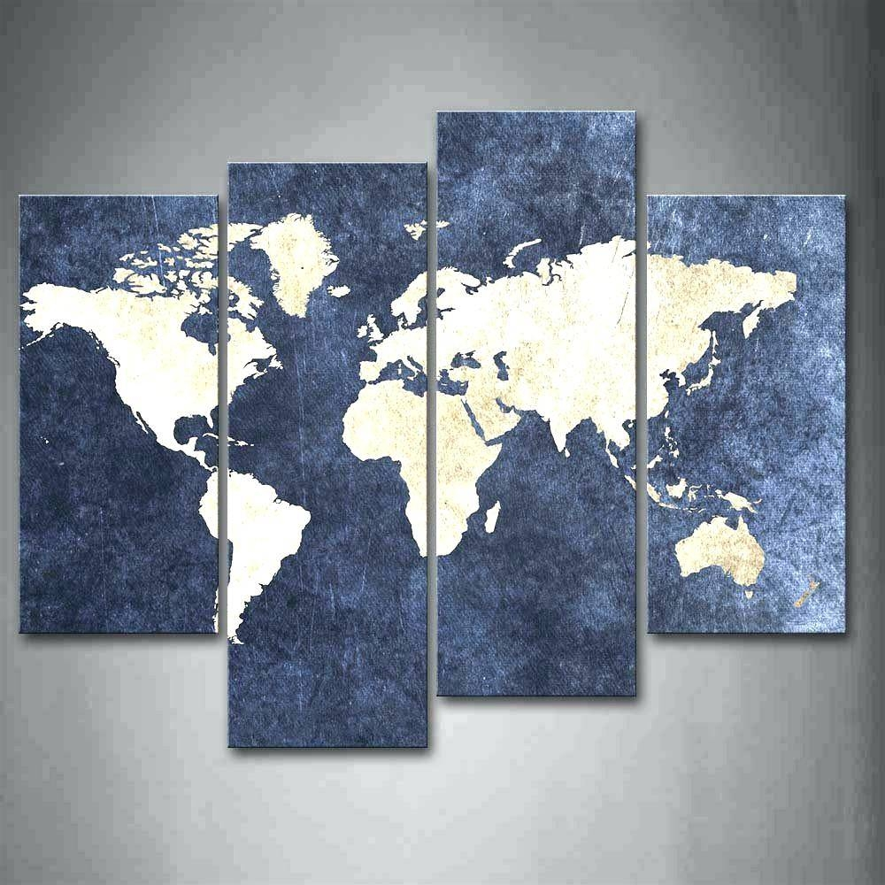 Wall Arts ~ Online Shop 4 Piece World Map Canvas Wall Art100 Intended For Best And Newest World Map Wall Art Framed (View 10 of 20)