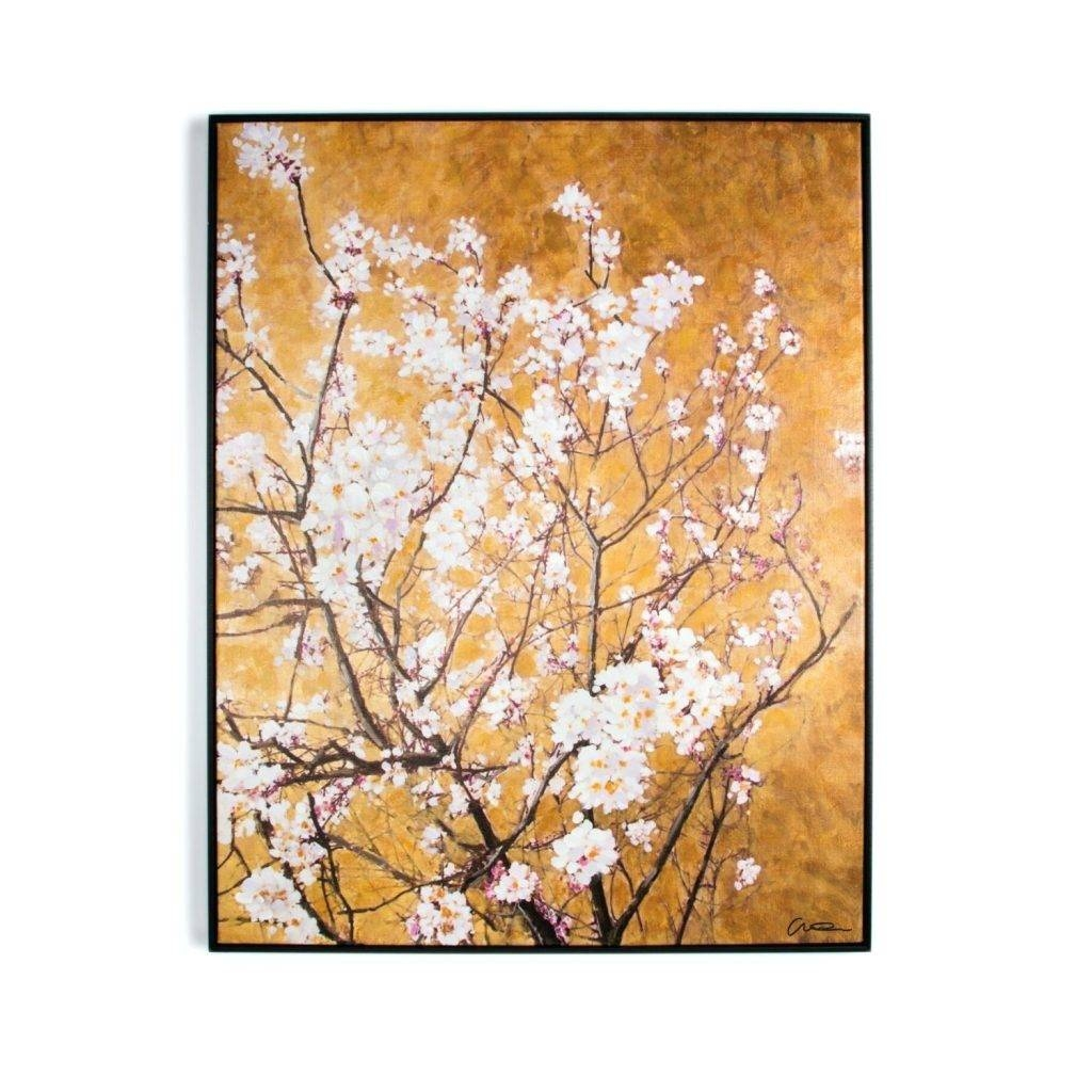 Wall Arts ~ Oriental Blossom Hand Painted Framed Canvas Oriental With Regard To Most Up To Date Oriental Metal Wall Art (View 4 of 20)