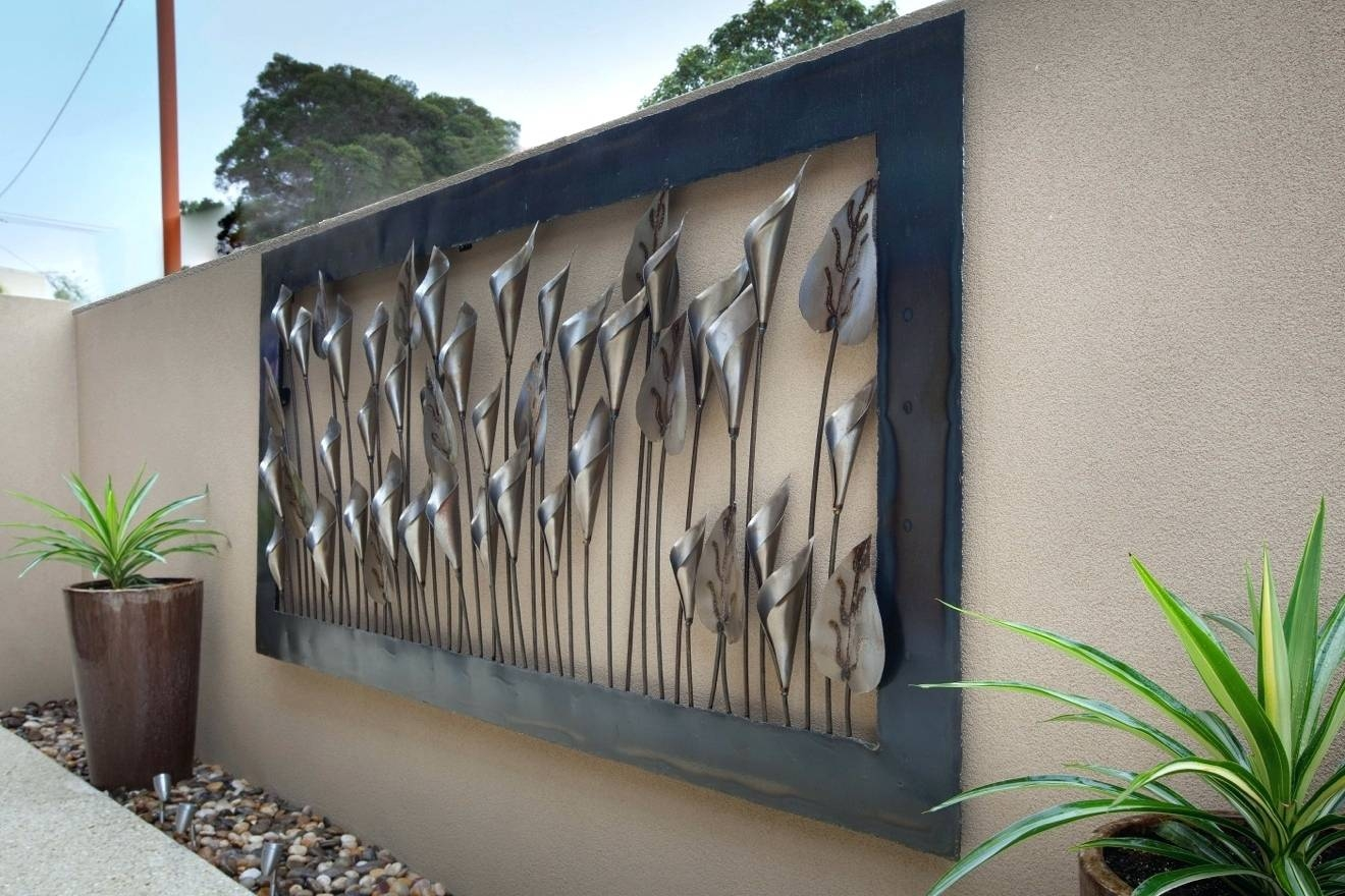 Wall Arts ~ Outdoor Metal Sunflower Wall Art 3D Sun Face Metal Inside Most Recently Released Outdoor Large Metal Wall Art (View 19 of 20)
