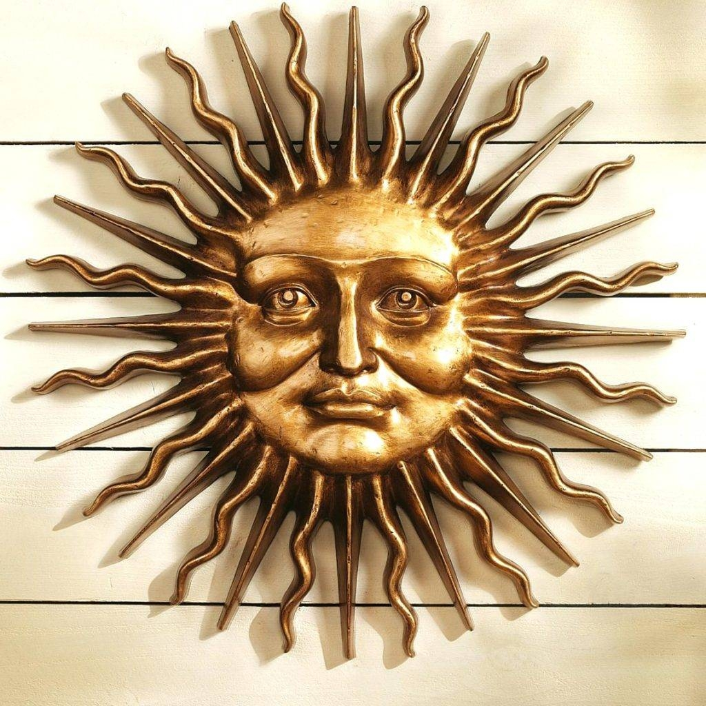 Wall Arts ~ Outdoor Metal Wall Art Sun And Moon Metal Wall Art Sun In Latest Moon Outdoor Metal Wall Art (View 16 of 20)