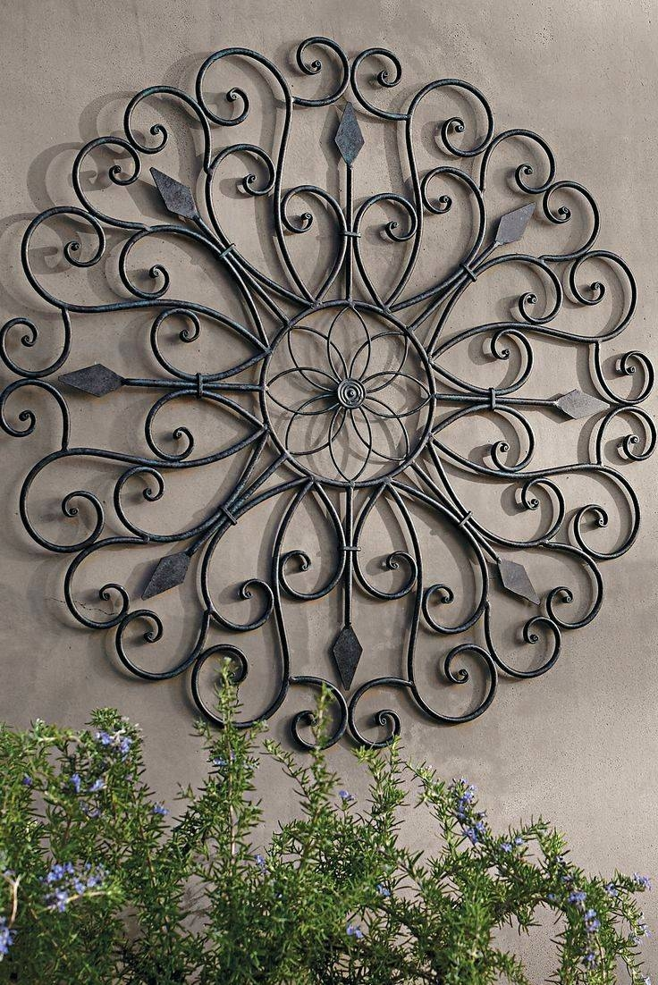 Wall Arts ~ Outdoor Wall Art Decorations Metal Wall Art Decor And For Most Current Garden Metal Wall Art (View 7 of 20)