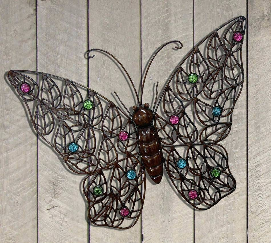 Wall Arts ~ Outdoor Wall Decor Large 20 Ideas Of Metal Large Pertaining To Recent Butterfly Garden Metal Wall Art (View 2 of 20)