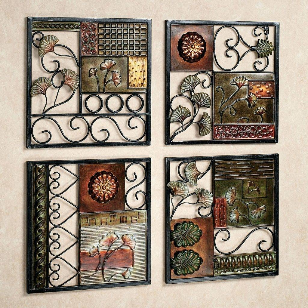 Wall Arts ~ Painted Metal Art Wall Hanging Tuscan Fleur De Lis With Current India Metal Wall Art (View 13 of 20)