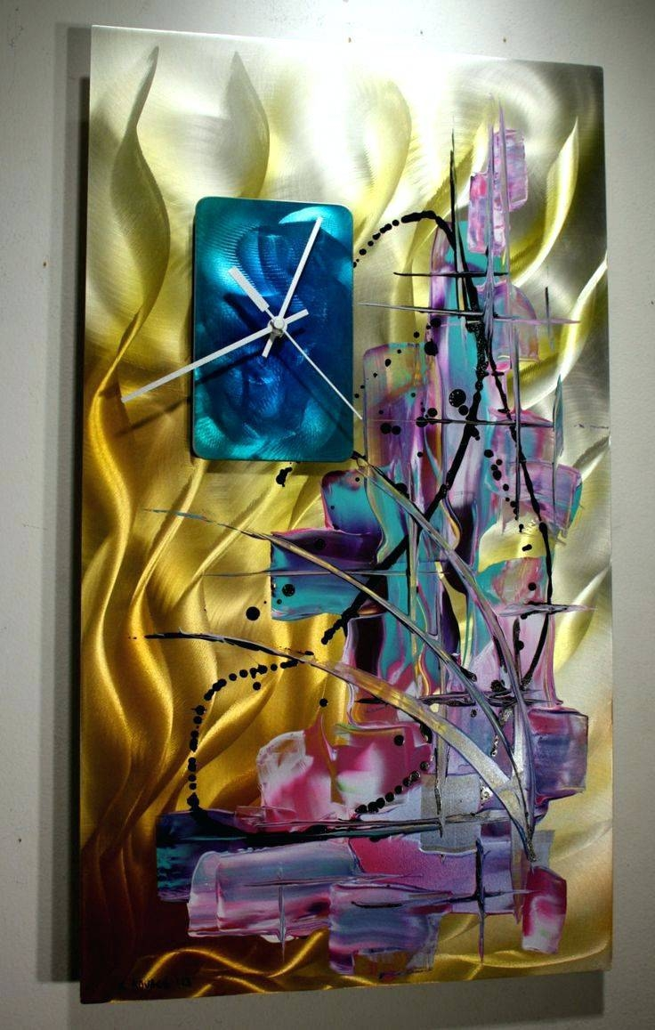 Wall Arts ~ Painted Metal Gecko Wall Art Talavera Painted Metal With Recent Painting Metal Wall Art (View 17 of 20)