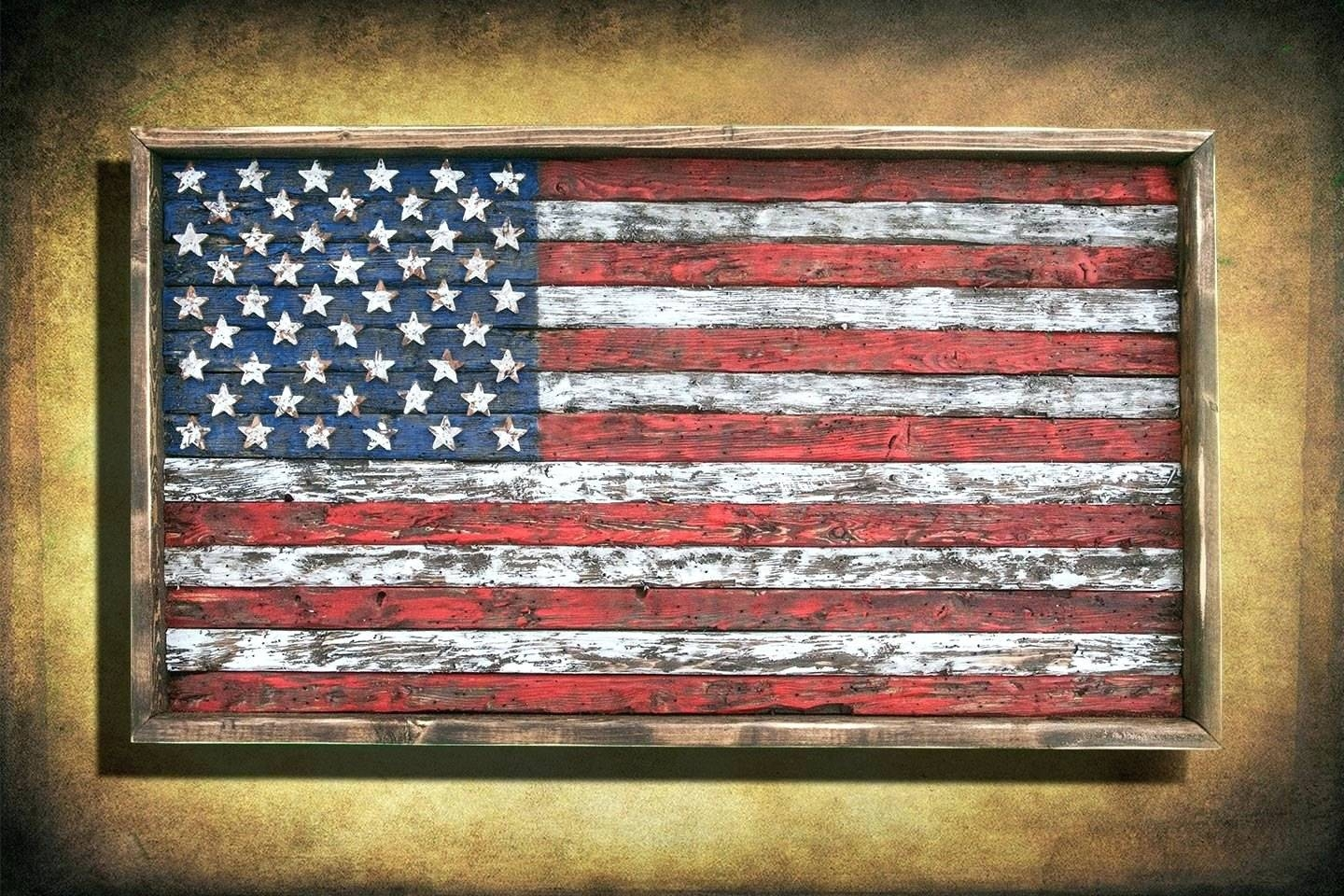 Wall Arts ~ Patriotic Metal Wall Art Appealing Wall Decor Wooden Within Newest American Flag Metal Wall Art (View 16 of 20)