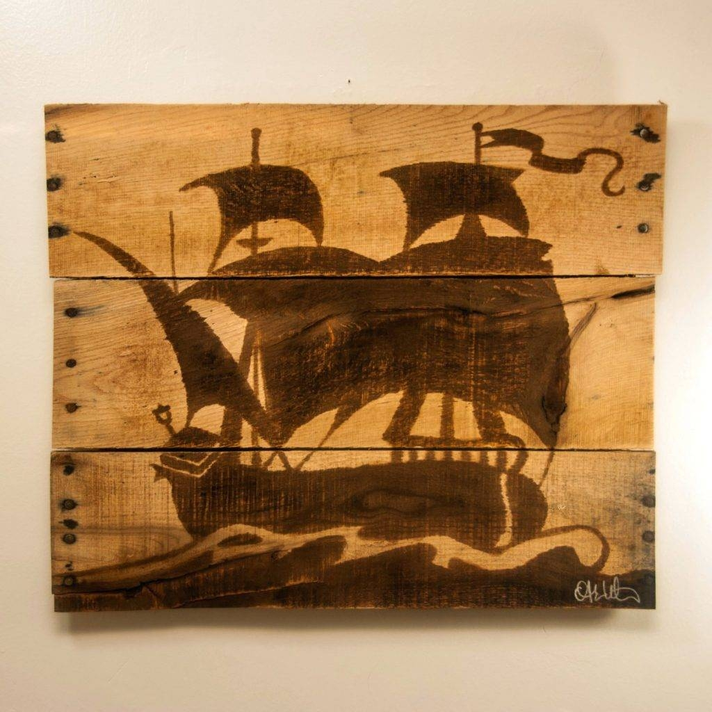 Wall Arts ~ Pirate Ship Metal Wall Art Bedroom Wooden Etsy Pertaining To Newest Metal Wall Art Ships (View 14 of 20)