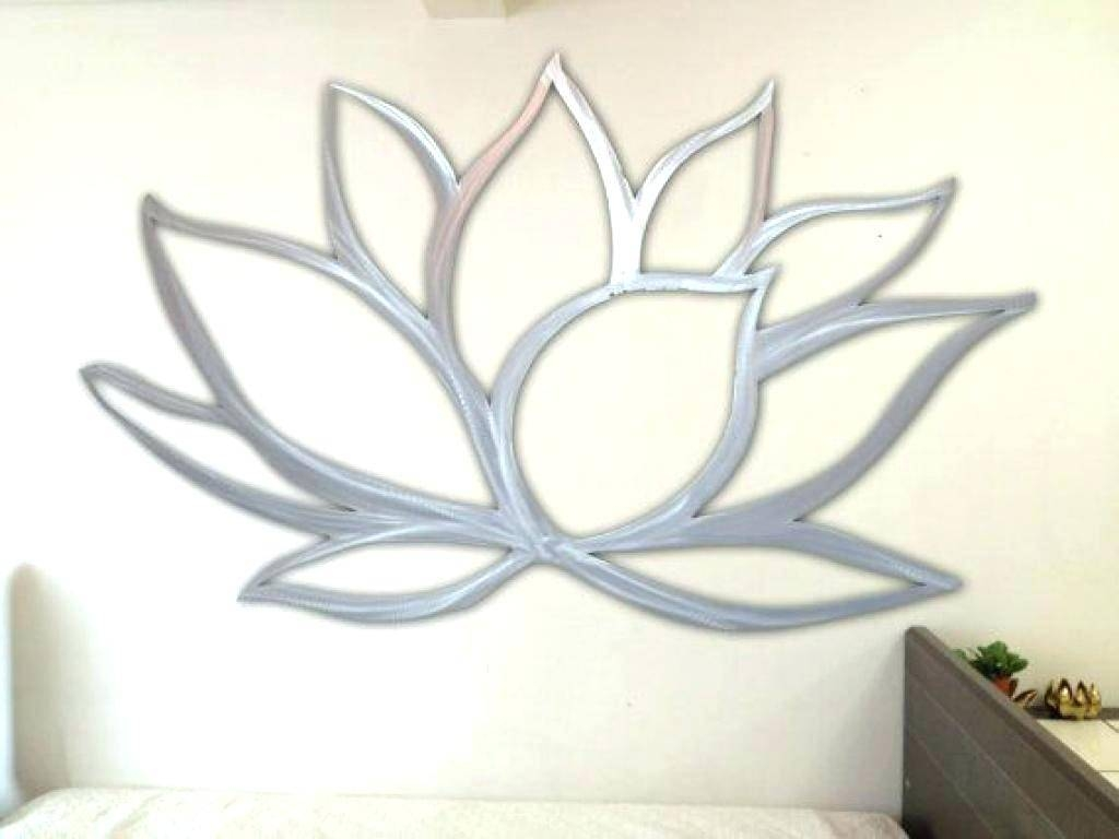 Wall Arts ~ Purple Metal Wall Art Flower Contemporary Metal Wall For Most Popular Floral Metal Wall Art (View 12 of 20)