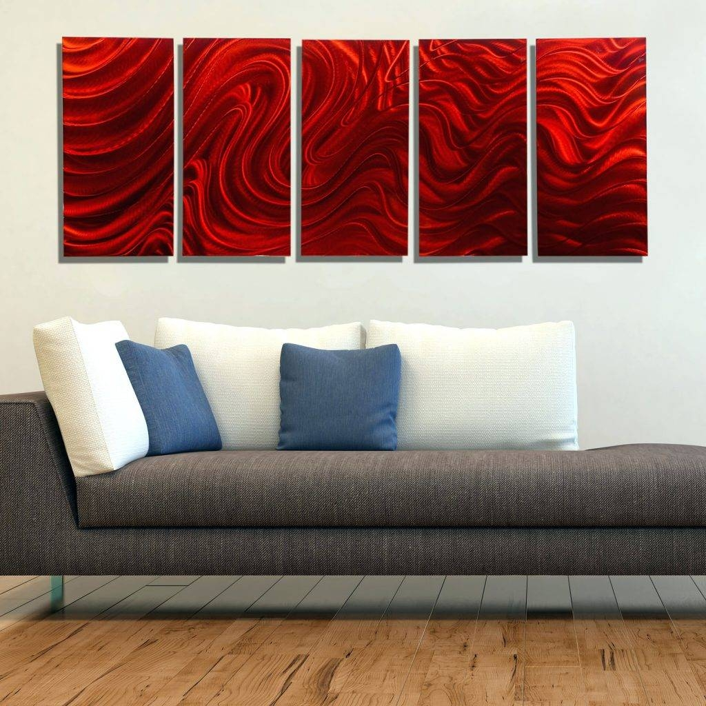 Wall Arts ~ Red Metal Wall Art Decor Red Metal Wall Art Bed Bath For Recent Red And Black Metal Wall Art (View 10 of 20)