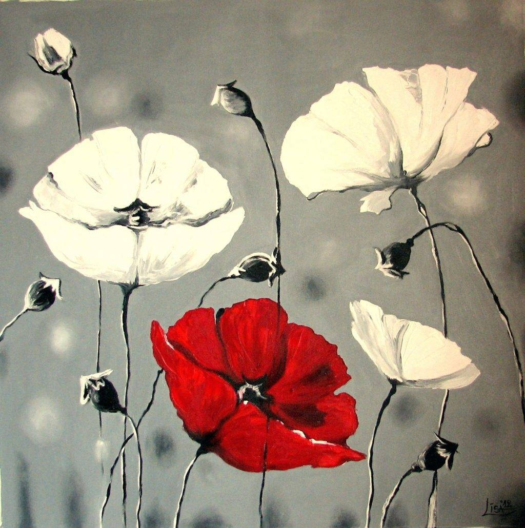 Wall Arts ~ Red Poppy Canvas Art Red Poppy Metal Wall Art Red With Most Recent Poppy Metal Wall Art (View 14 of 20)