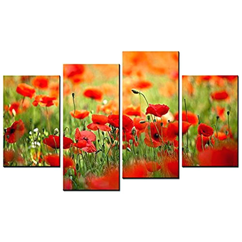 Wall Arts ~ Red Poppy Metal Wall Art Red Poppy Canvas Wall Art Red Regarding Latest Poppy Metal Wall Art (View 10 of 20)