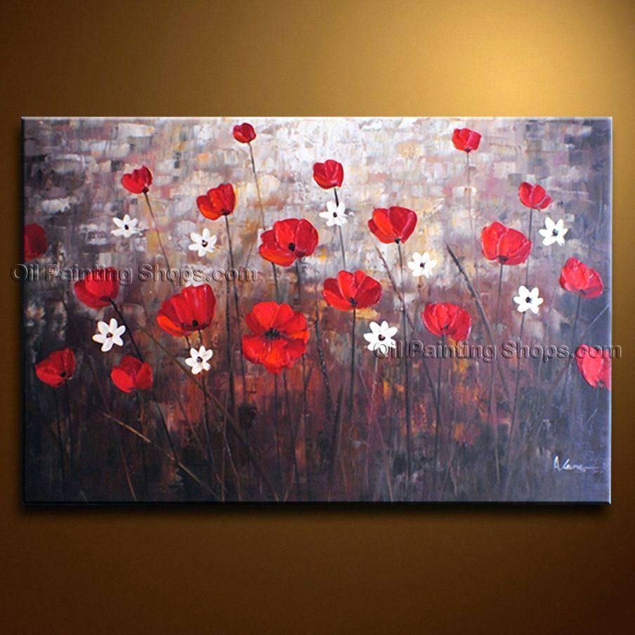 Wall Arts ~ Red Poppy Metal Wall Art Red Poppy Canvas Wall Art Red Regarding Newest Poppy Metal Wall Art (View 5 of 20)