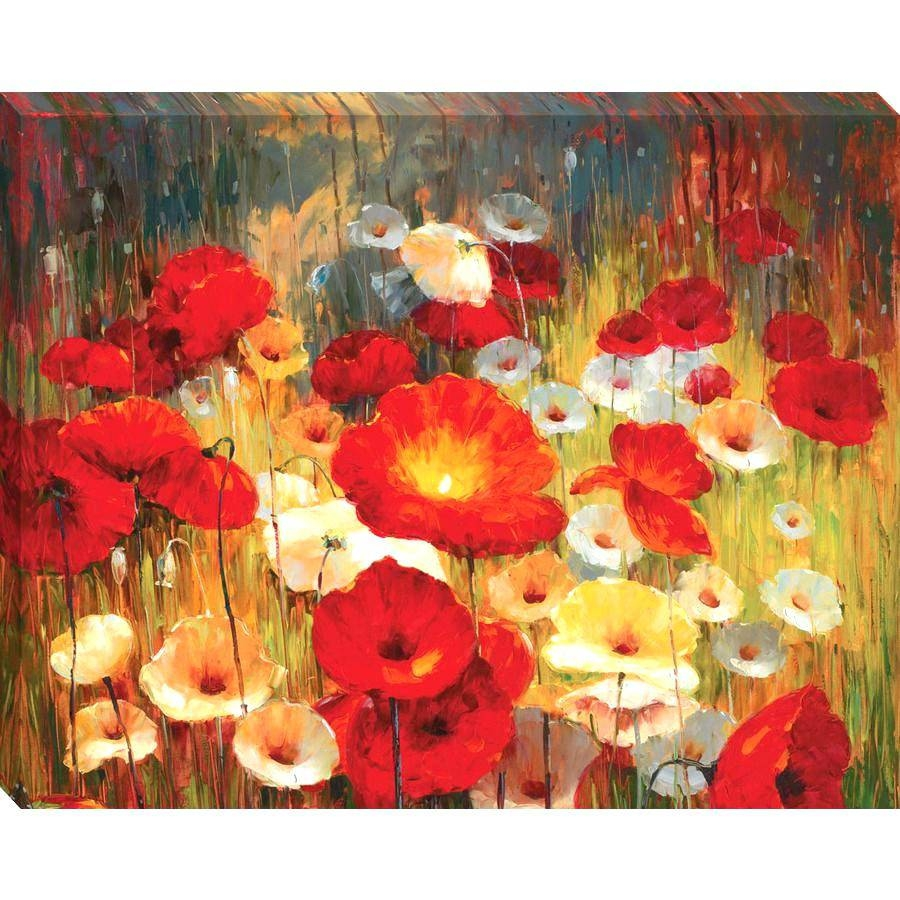 Wall Arts ~ Red Poppy Metal Wall Art Red Poppy Canvas Wall Art Red With Most Recently Released Poppy Metal Wall Art (View 11 of 20)