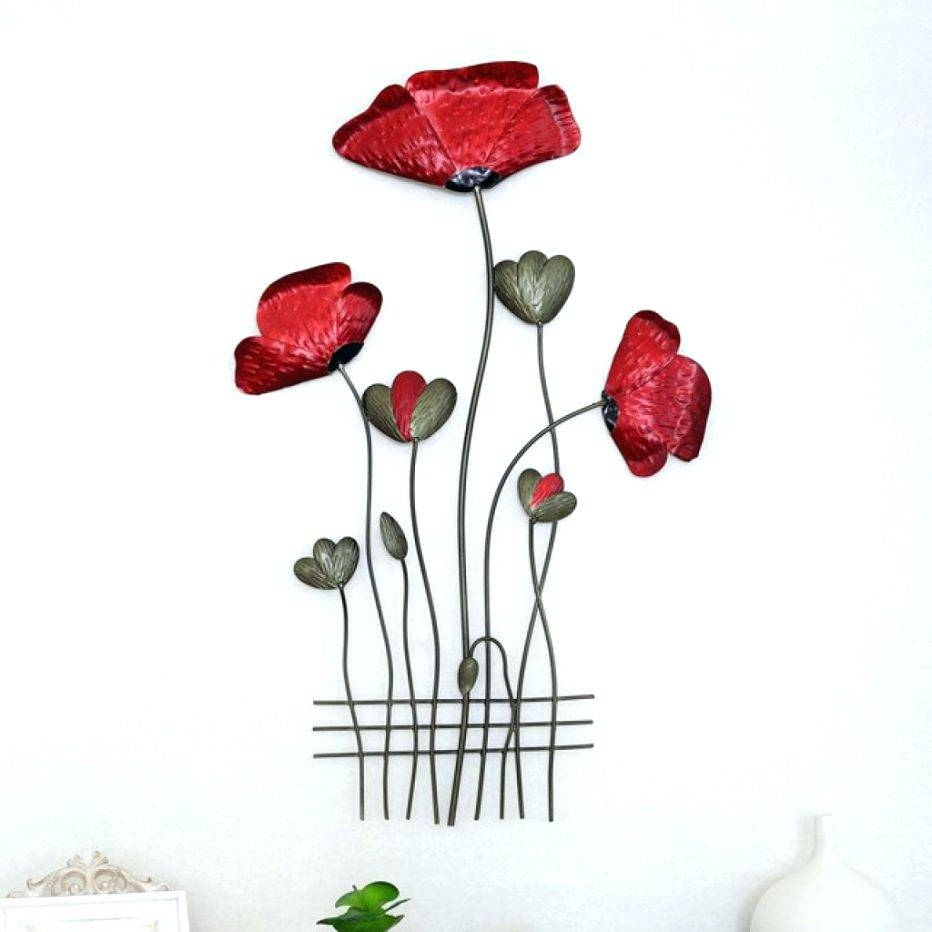 Wall Arts ~ Red Poppy Wall Art Painting On Canvas Poppy Wall Art Pertaining To Most Current Poppy Metal Wall Art (View 6 of 20)