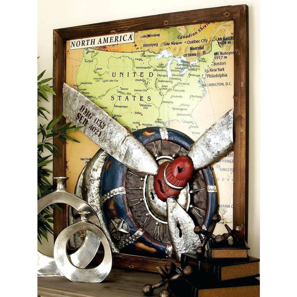 Wall Arts ~ Retro Canvas Wall Art Uk Vintage Plane Vintage Map Regarding Most Recently Released Houston Map Wall Art (View 18 of 20)