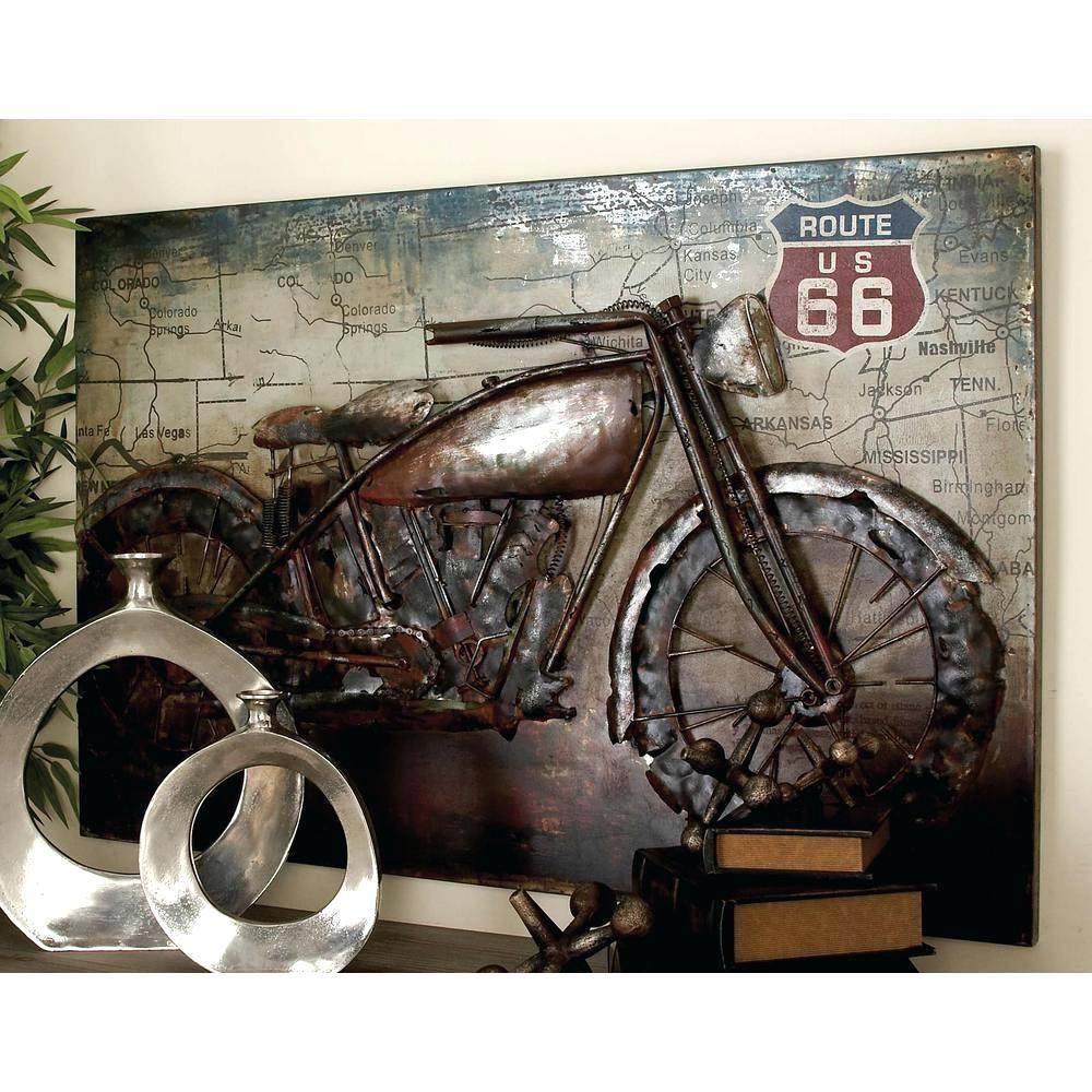 Wall Arts ~ Retro Tin Wall Art Vintage Bicycle Metal Wall Art With Most Current Retro Metal Wall Art (View 11 of 20)