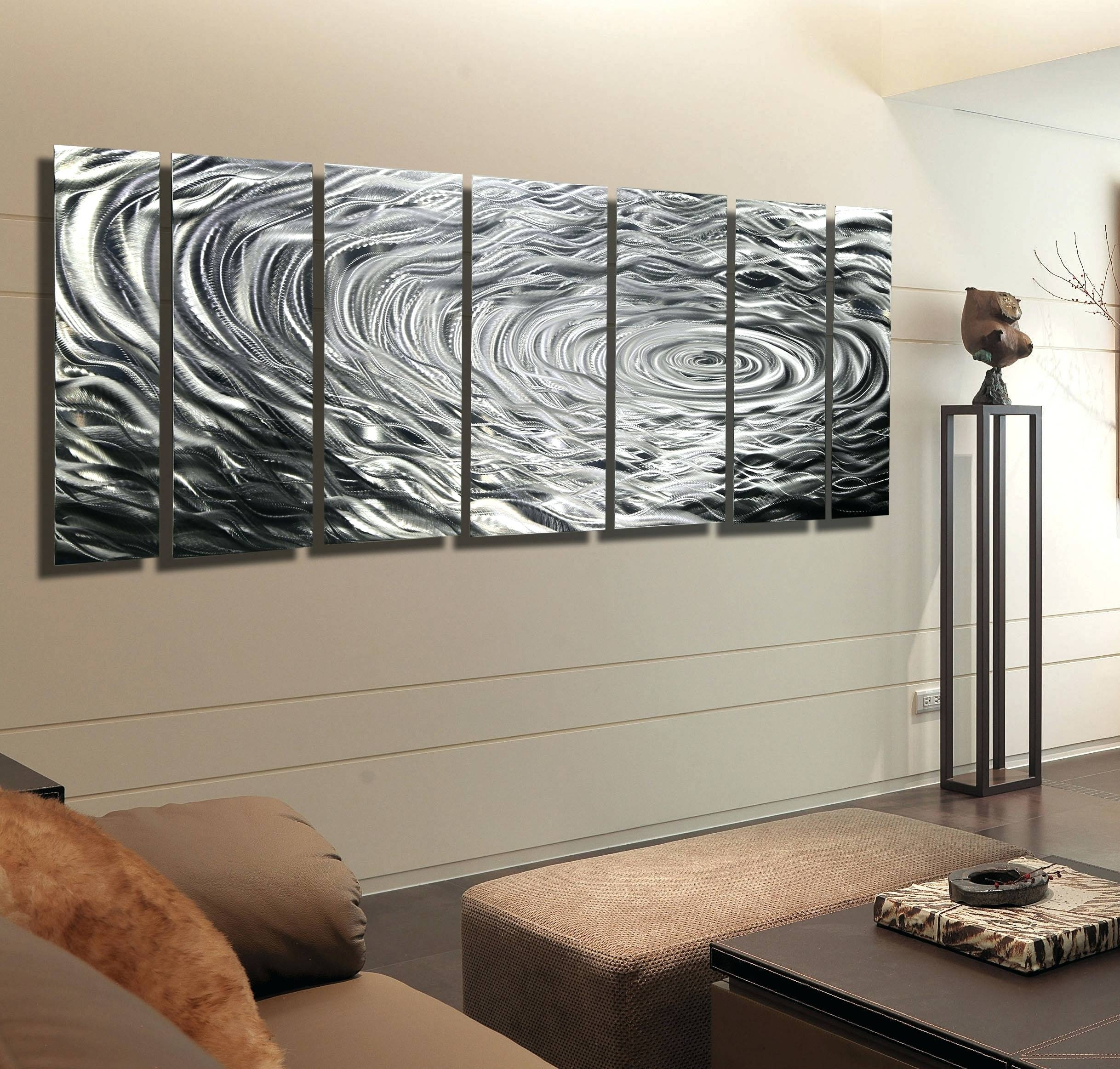 Wall Arts ~ Ripple Effect Xl Silver Abstract Corporate Metal Wall In Most Popular Extra Large Metal Wall Art (View 4 of 20)