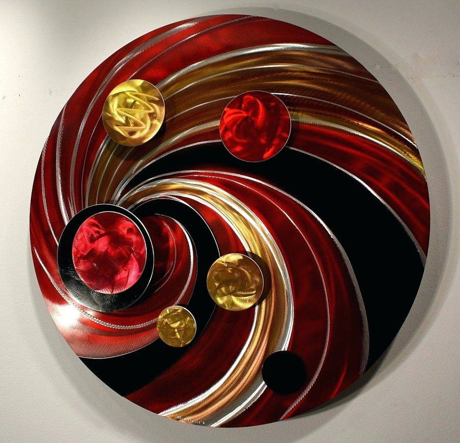 Wall Arts ~ Round Metal Outdoor Wall Art Oversized Round Metal In Most Recent Round Metal Wall Art (View 16 of 20)