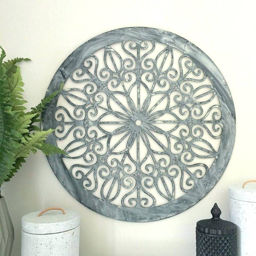 Wall Arts ~ Round Metal Scroll Wall Art Metal Circle Wall Decor With Newest  Round Metal