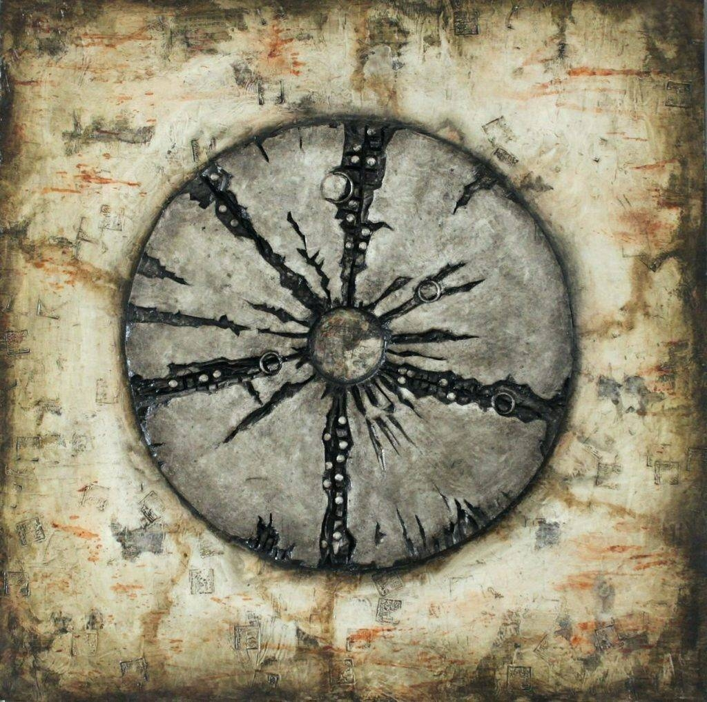 Wall Arts ~ Round Wood And Metal Wall Art Rustic Wood And Metal With Newest Distressed Metal Wall Art (View 11 of 20)