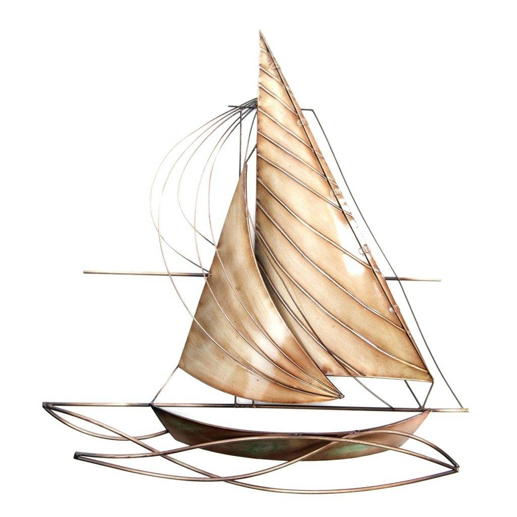 Wall Arts ~ Row Boat Wall Art Metal Fishing Boat Wall Art Copper With Regard To 2018 Metal Wall Art Boats (View 12 of 20)