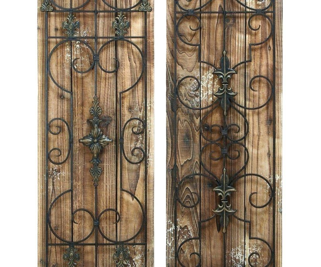 Wall Arts ~ Rustic Wood Wall Art Decor Rustic Wood Iron Wall Art With Regard To Most Recent Antique Metal Wall Art (View 14 of 20)
