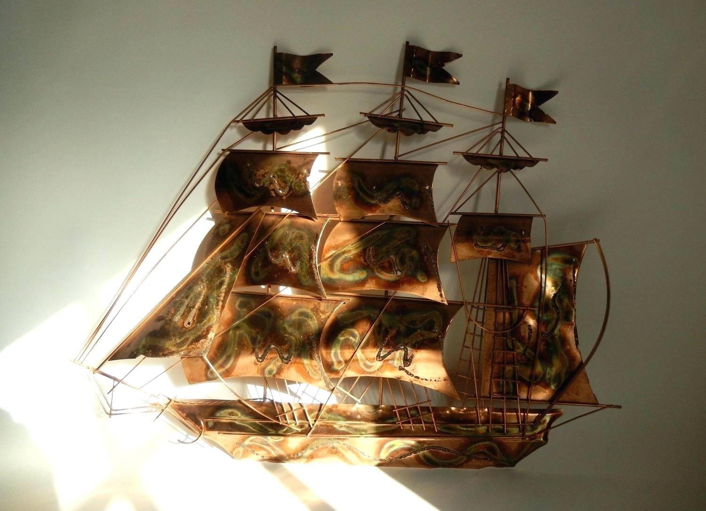 Wall Arts: Sailboat Wall Art. Sailing Ship Metal Wall Art (View 6 of 20)