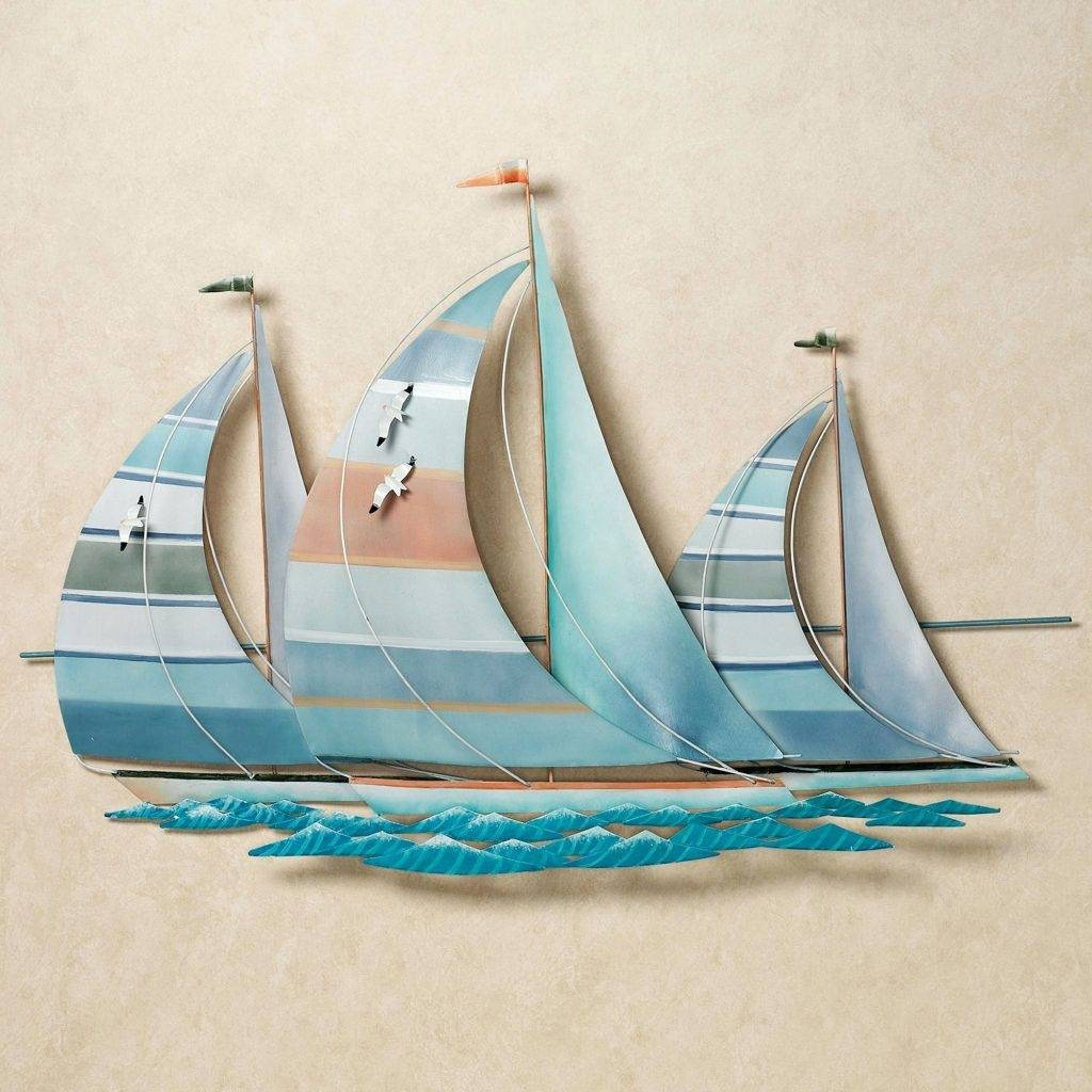 Wall Arts ~ Sailing Boat Metal Wall Art Click To Expand Sailing Intended For Most Up To Date Metal Wall Art Boats (View 13 of 20)