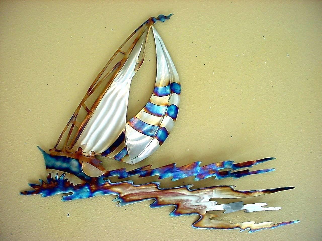 Wall Arts ~ Sailing Ship Metal Wall Art Large Metal Sailboat Wall In Most Popular Metal Wall Art Ships (View 17 of 20)
