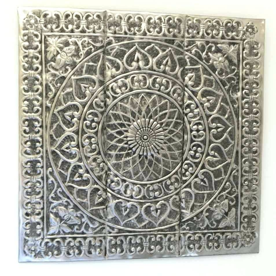 Wall Arts ~ Silver Metal Wall Art Decor Silver Metal Wall Art Regarding Newest Silver Metal Wall Art Flowers (View 15 of 20)