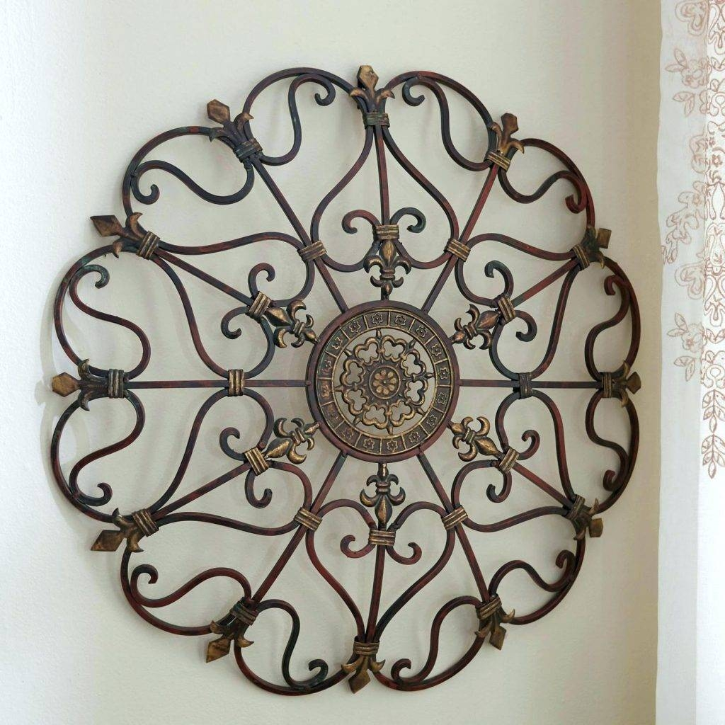 Wall Arts ~ Silver Metal Wall Art Flowers Metal Spoon Wall Art With Most Current Large Round Metal Wall Art (View 1 of 20)
