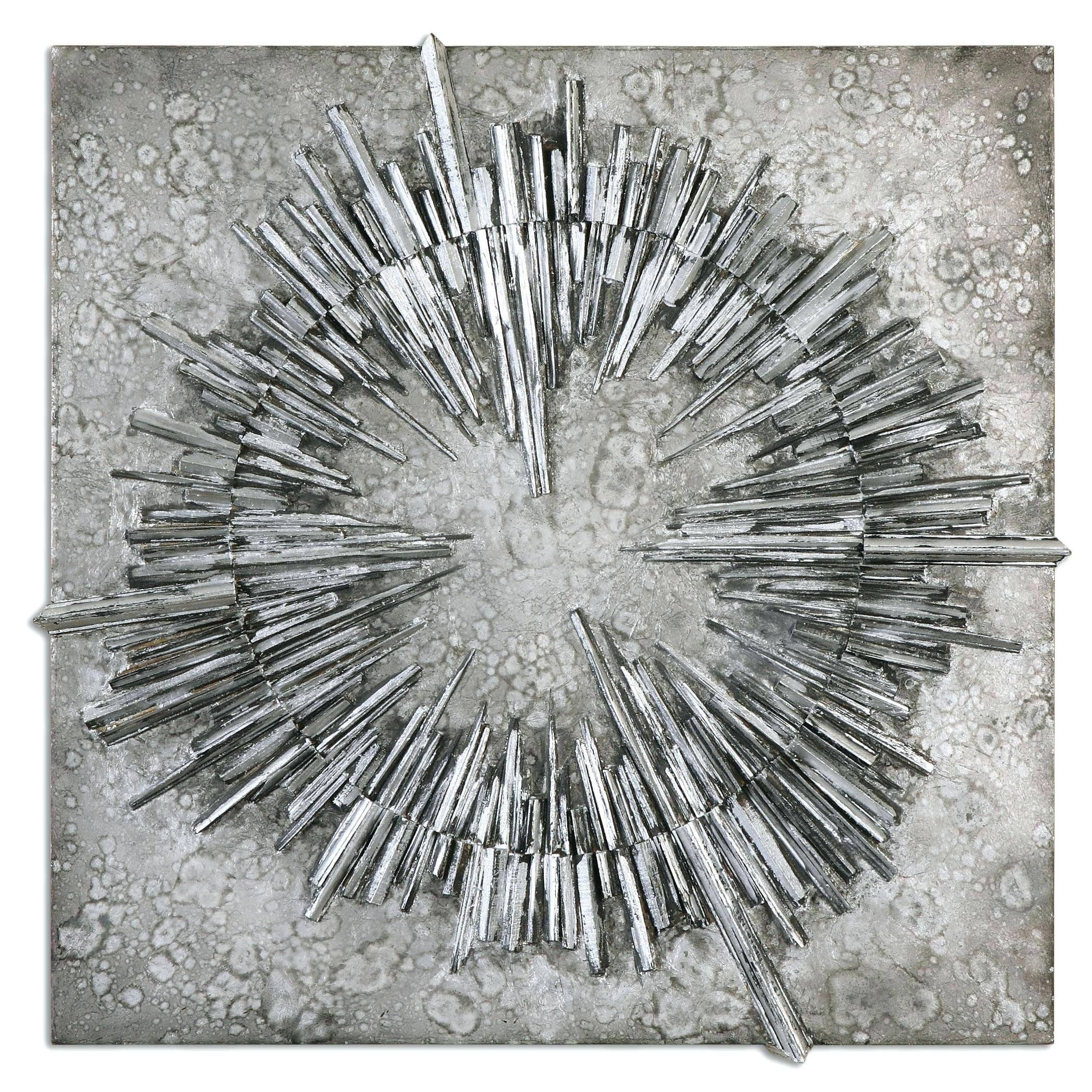 Wall Arts ~ Silver Metal Wall Art Flowers Silver Wall Art Metal With Best And Newest Metal Wall Artworks (View 18 of 20)