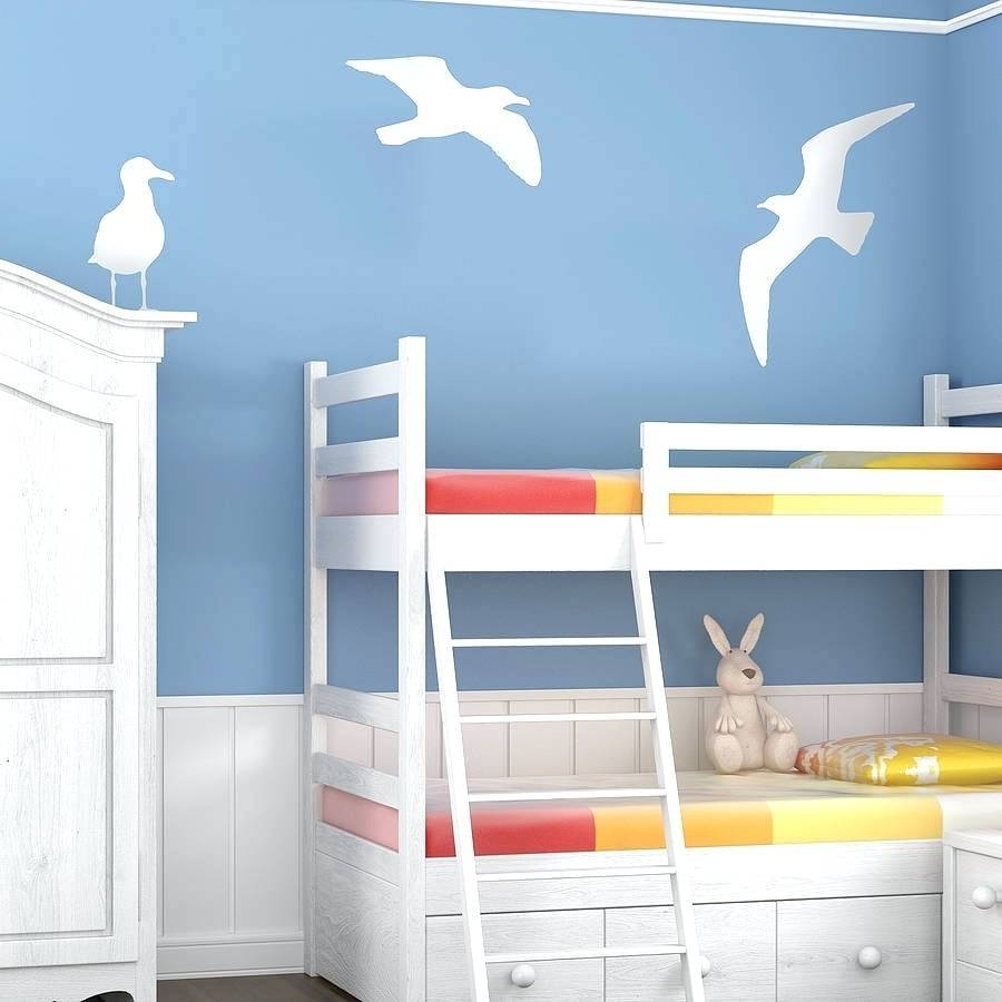 Wall Arts ~ Silver Seagulls Wall Art Seagull Vinyl Wall Sticker With Regard To Most Popular Flock Of Seagulls Metal Wall Art (View 16 of 20)