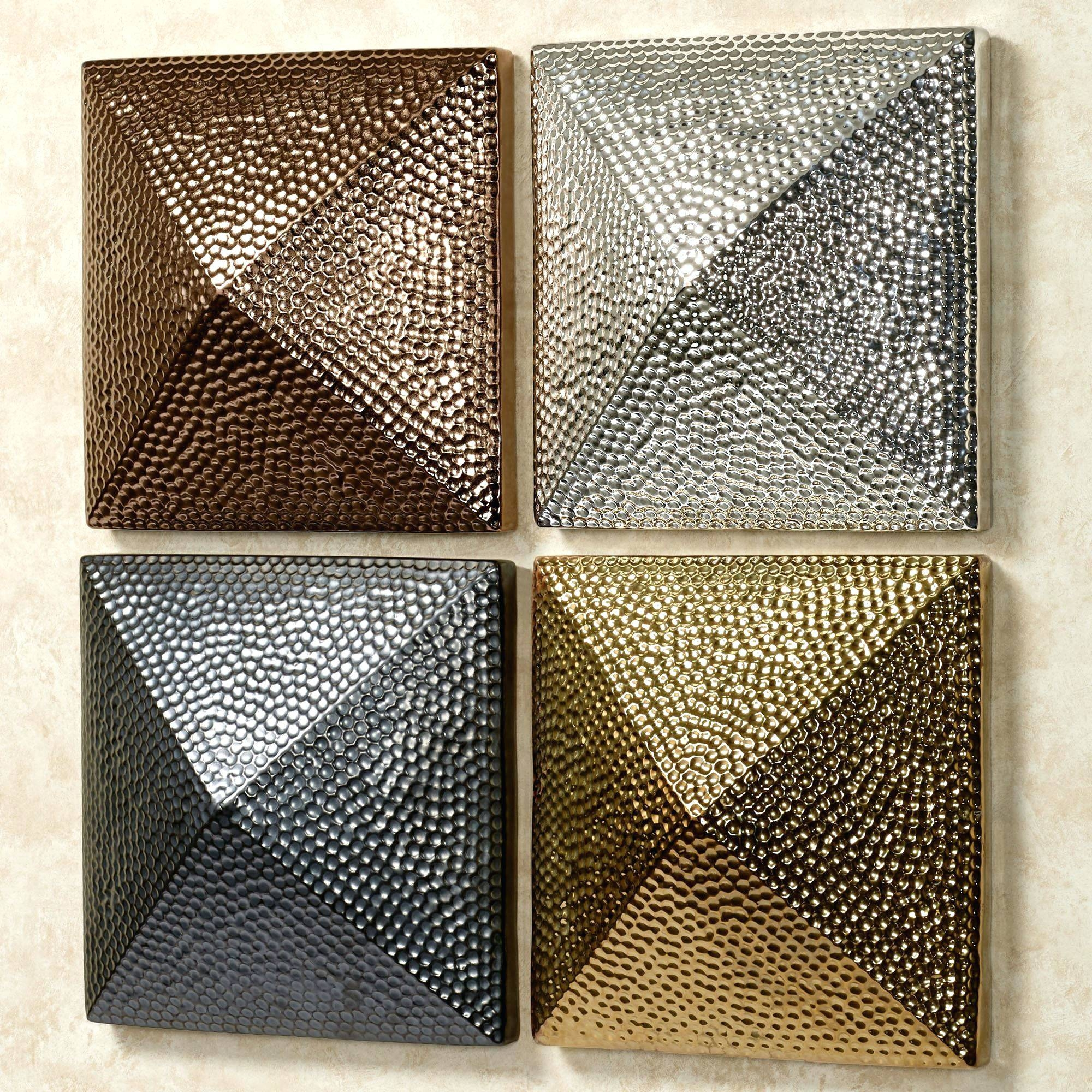 Wall Arts ~ Square Nail Metal Wall Art 4 Square Metal Wall Art Intended For Most Up To Date Square Metal Wall Art (View 20 of 20)