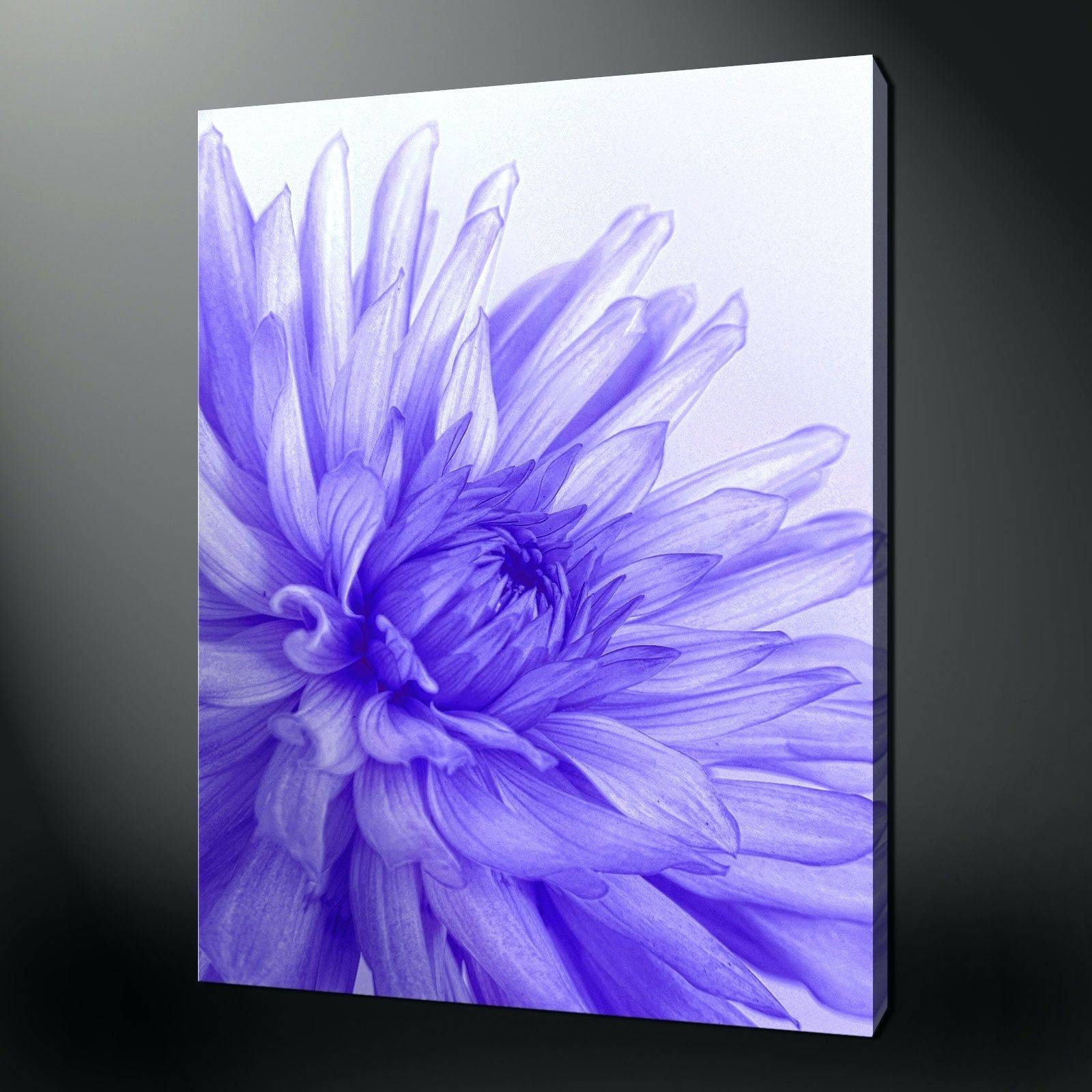 Wall Arts ~ Teal Flower Canvas Wall Art Blue Flower Metal Wall Art In Current Blue Flower Metal Wall Art (View 18 of 20)