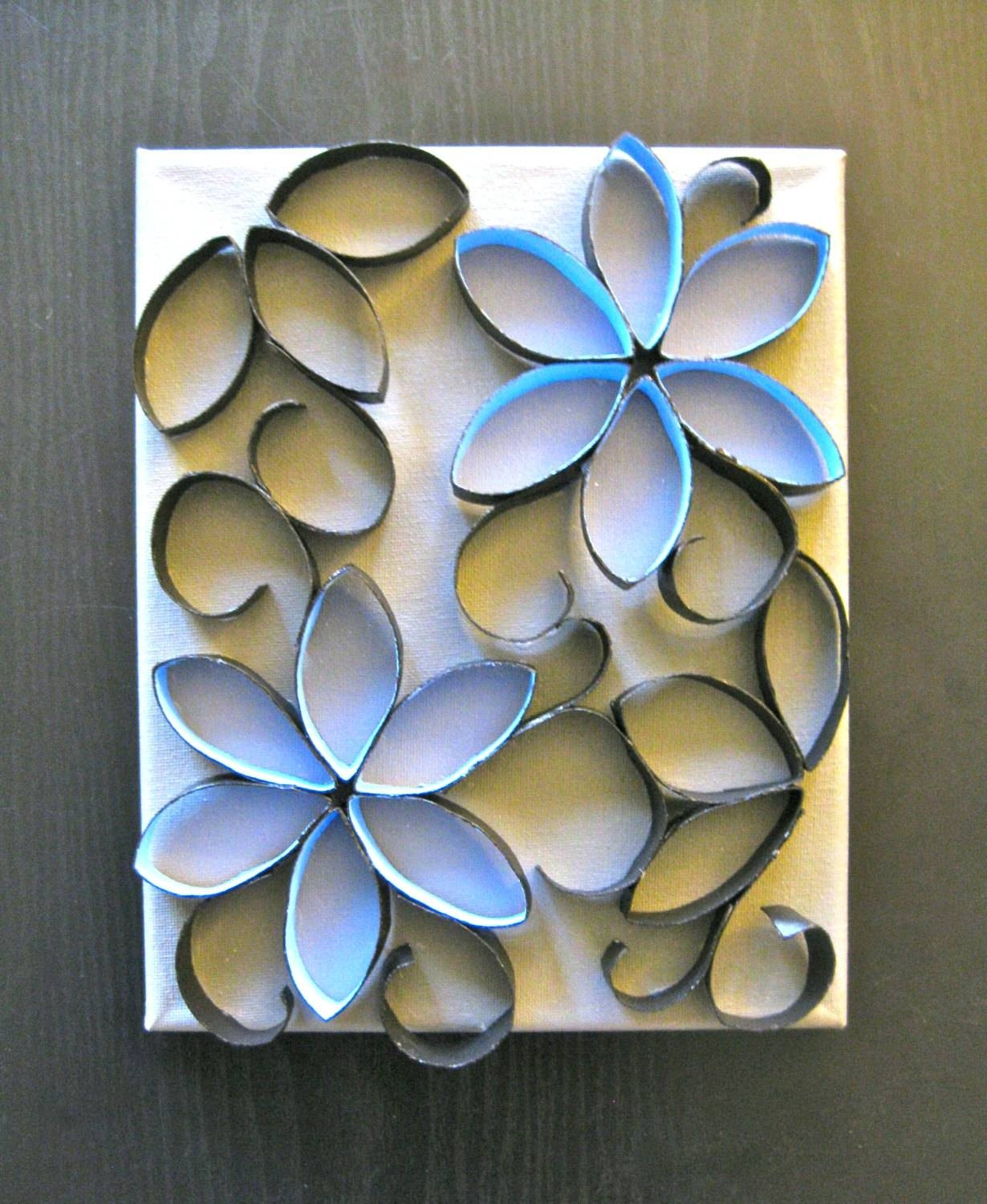 Featured Photo of Blue Flower Metal Wall Art