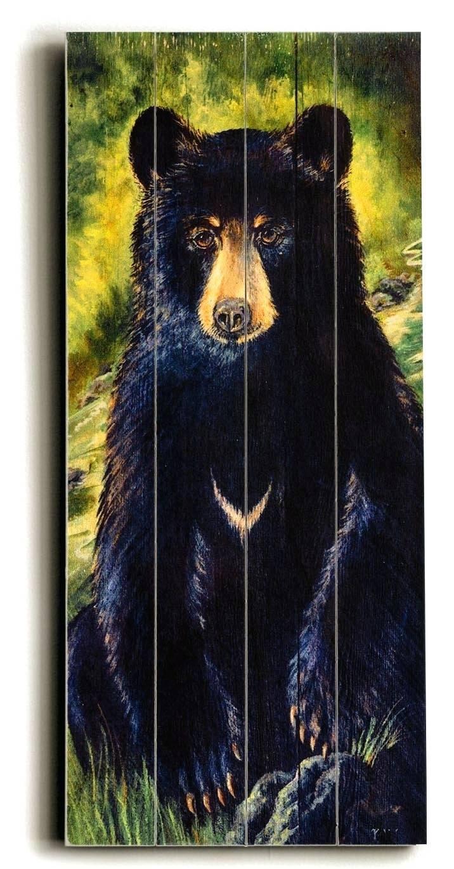 Wall Arts ~ Teddy Bear Wall Art Bear Wood Sign Wall Art Black Bear Throughout 2018 Black Bear Metal Wall Art (View 14 of 20)