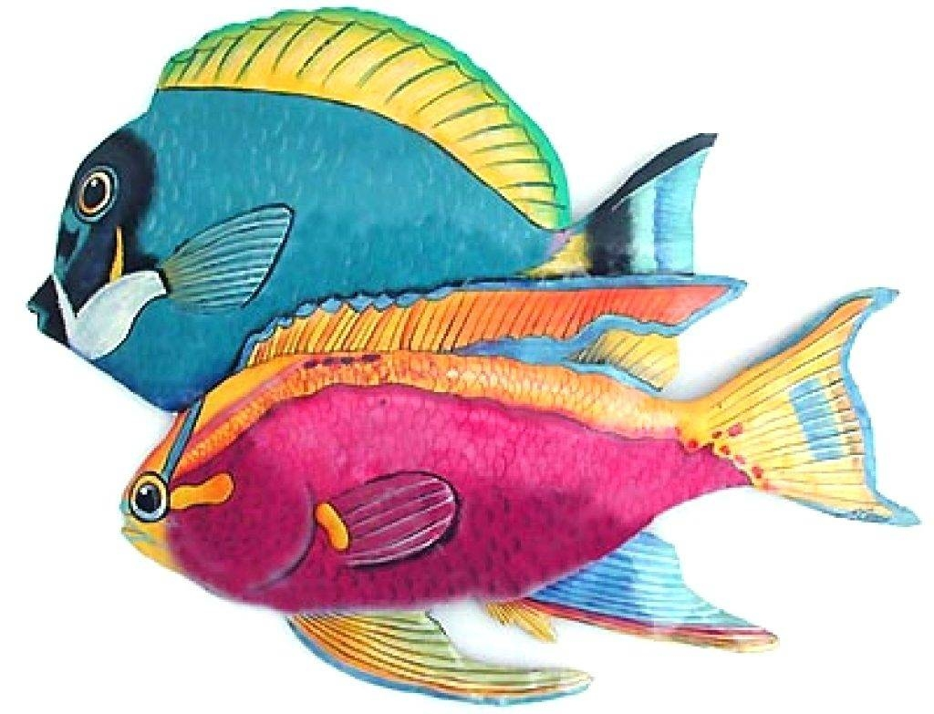 Wall Arts ~ Tropical Fish Wall Decor Vinyl Decals Removable Diy In Most Popular Tropical Fish Metal Wall Art (View 18 of 20)