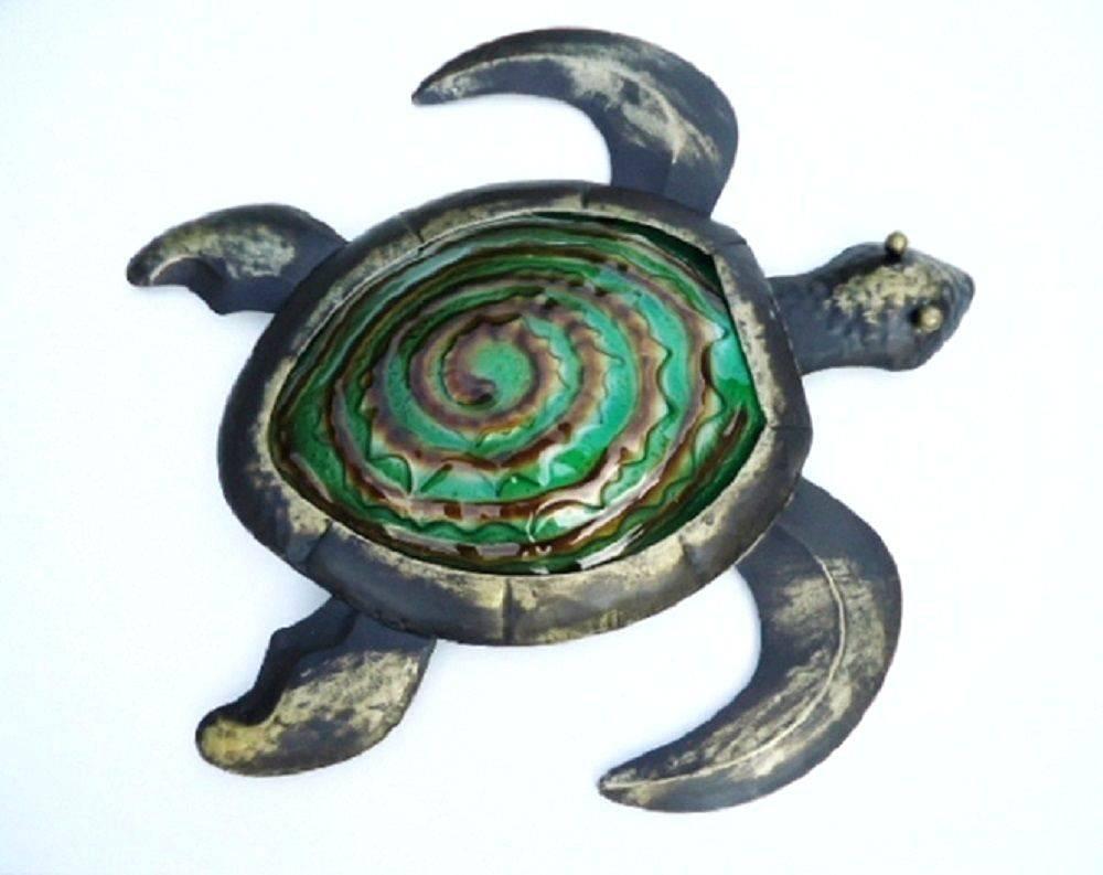 Wall Arts ~ Tropical Ocean Sea Turtle Metal Wall Art Decor Large For Newest Turtle Metal Wall Art (View 14 of 20)